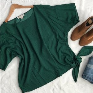 NWOT MICHAEL KORS oversized emerald green blouse💚